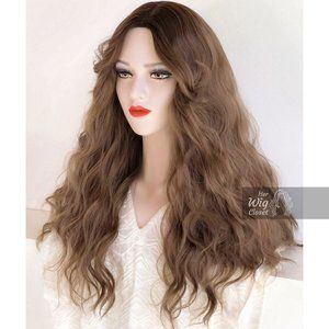 Honey Blonde Ombre Wavy Wig | Kiara